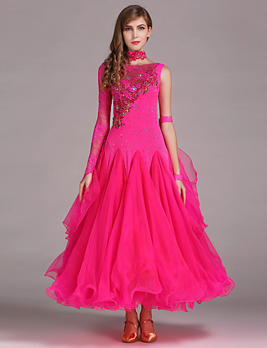 cheap Ballroom Dancewear-Ballroom Dance Dresses Women's Performance Spandex / Lace / Tulle Dress