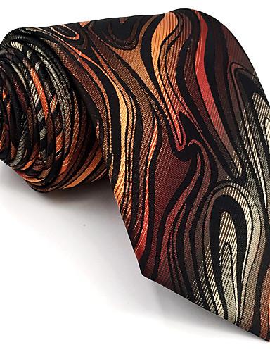 ربطة العنق هندسي / ألوان متناوبة / خملة الجاكوارد رجالي - أساسي حفلة / عمل / أساسي