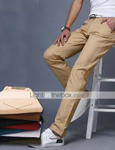 Men's Slim Suits Chinos Pants - Solid