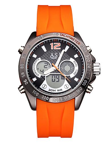 Japonés Reloj Silicona Negro Naranja Asj Digital Hombre 30 D92HIE