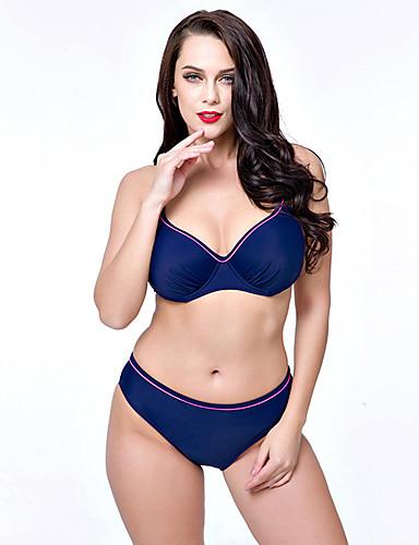 De las mujeres Bikini-Color ÚnicoCon Cordones-Espándex