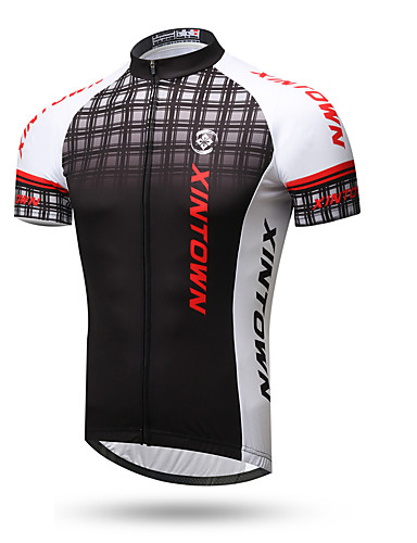 cheap Cycling Clothing-XINTOWN Men's Short Sleeve Cycling Jersey - 1# 2# 3# Plaid / Checkered Bike Top Breathable Quick Dry Back Pocket Sports Terylene Mountain Bike MTB Road Bike Cycling Clothing Apparel / Stretchy