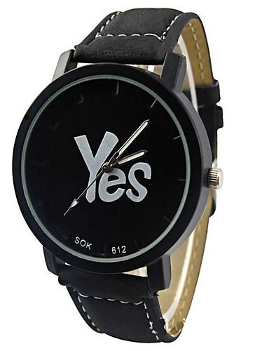 95ea57ead Reloj de Bolsillo Reloj de Moda Cuarzo Piel Banda Encanto Casual Reloj con  palabras Negro Blanco Negro
