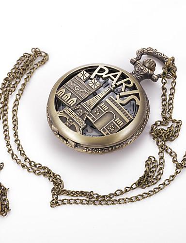 Hombre Reloj de Bolsillo Reloj de Collar Cuarzo Gran venta Aleación Banda Analógico Encanto Vintage Casual Múltiples Colores - Bronce