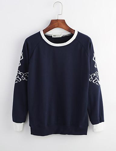 Dame Sødt Gade Sweatshirt - Ensfarvet