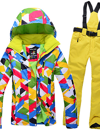 228552a12e GQY® Women s Ski Jacket with Pants Waterproof Thermal   Warm Windproof Ski    Snowboard Winter Sports Polyester Clothing Suit Ski Wear