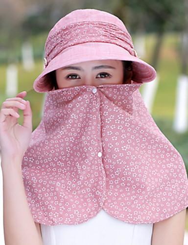 Mulheres Algodão, Chapéu de sol - Estampado