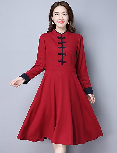 1c672cc3a99e 2017 jaro nový národní vítr bavlny cheongsam Čínské šaty s dlouhým rukávem  šaty dlouhý úsek