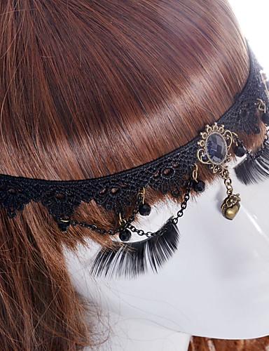 Mulheres Vintage / Festa Tecido, Sapphire sintético Presilha de Cabelo / Fofo