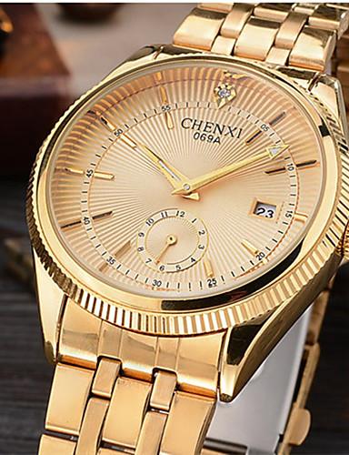 CHENXI® للرجال ساعة المعصم ياباني رزنامه / كوول / تقليد الماس أشابة فرقة ترف / مضيئ / كاجوال ذهبي / سنتان / Maxell626