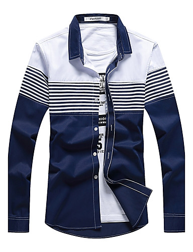 Men S Work Active Boho Street Chic Cotton Shirt Solid Colored