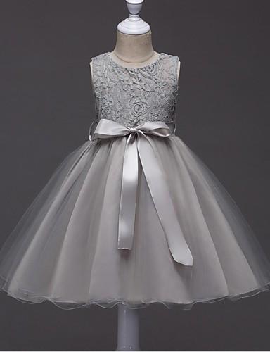 plesové šaty krátké / mini květiny dívčí šaty - organza bez rukávů šperk krk se stuhou o ydn