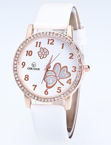 Mulheres Relógio de Pulso Relógio de Moda Quartzo Com Strass Lega Banda Flor Casual Preta Branco Azul Vermelho Rosa Roxa Rose