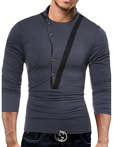 Herrn Einfarbig-Freizeit Aktiv Baumwolle T-shirt,Ständer