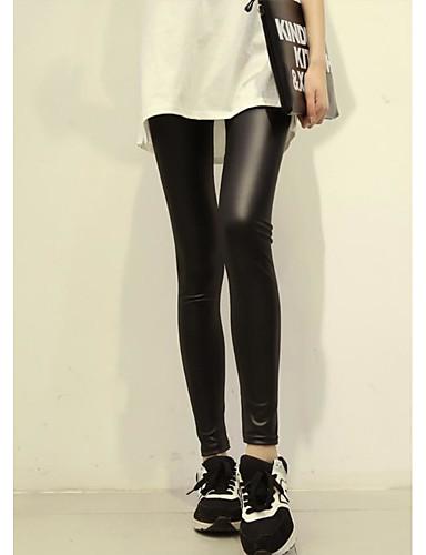 Damen Einfach Mittlere Hüfthöhe strenchy Chinos Skinny Hose,Reine Farbe einfarbig