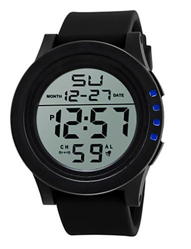 Homens Relogio digital Relógio Esportivo Chinês Digital Relógio Casual Silicone Banda Legal Preta