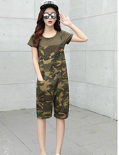 Damen Einfach Mittlere Hüfthöhe Mikro-elastisch Jogginghose Lose Hose camuflaje