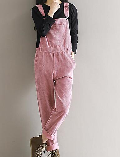 Dámské Jednoduchý Není elastické Montérky Kalhoty Štíhlý High Rise Jednobarevné