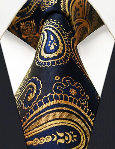 Men's Party / Work / Basic Necktie - Color Block / Paisley / Jacquard Basic