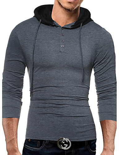 Herrn Einfarbig-Freizeit Aktiv Baumwolle T-shirt,Hemdkragen