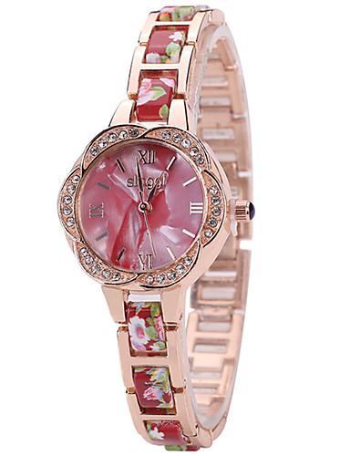 Mulheres Quartzo Relógio de Pulso Venda imperdível Lega Banda Amuleto Luxo Criativo Casual Elegant Fashion Legal Preta Branco Vermelho