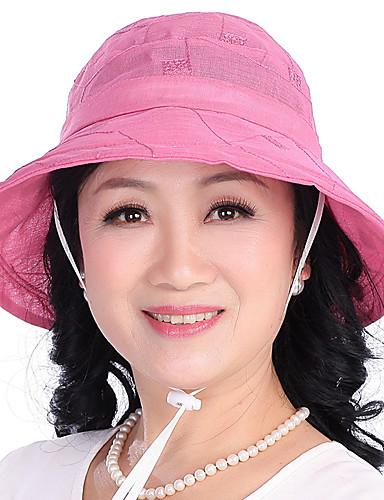 Mulheres Algodão, Chapéu de sol Sólido / Verão