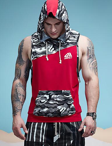 رجالي قطن كنزة رياضي Active ألوان متناوبة / بقع / مموه, الرياضة / بدون كم / طويلة