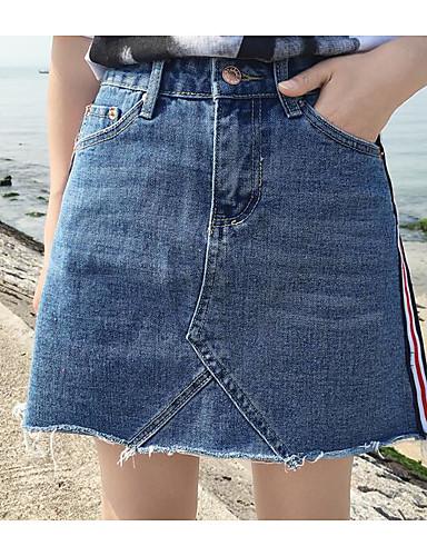 Damen Lässig/Alltäglich Mini Röcke A-Linie einfarbig Sommer