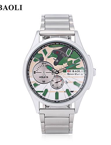JUBAOLI Homens Relógio de Pulso Relógio de Moda Chinês Quartzo Calendário Mostrador Grande Aço Inoxidável Lega Banda Legal Preta