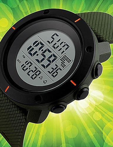 Herrn digital Armbanduhr Sportuhr Chinesisch Kalender Chronograph Wasserdicht Nachts leuchtend Silikon Band Charme Einzigartige kreative