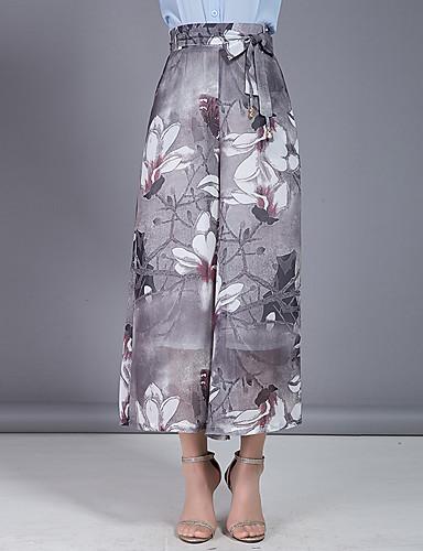 Dámské Větší velikosti Sexy Lehce elastické Široké nohavice Kalhoty chinos Kalhoty High Rise Jiné Léto