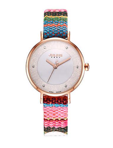 Dámské Módní hodinky Křemenný Voděodolné Pravá kůže Kapela Na běžné nošení Cikánské Vícebarevný
