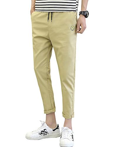 Pánské Roztomilý Na běžné nošení Aktivní Šik ven Čínské vzory Lehce elastické Štíhlý Culotte Kalhoty chinos Kalhoty Low Rise Bavlna