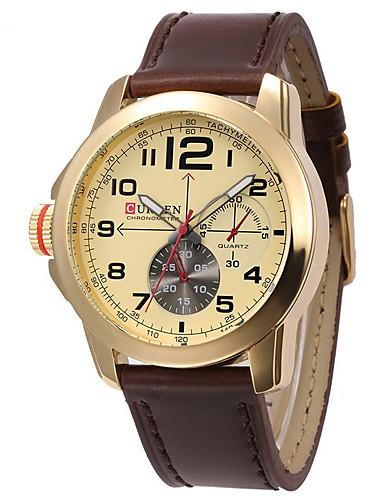 Homens Relógio Esportivo / Relógio inteligente / Relógio de Pulso Chinês Impermeável / Criativo / Legal Couro Legitimo Banda Amuleto / Fashion / Relógio Elegante Cores Múltiplas / Mostrador Grande