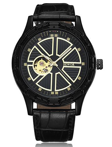 Pánské Náramkové hodinky Hodinky s lebkou Hodinky k šatům Módní hodinky Sportovní hodinky čínština Velký ciferník Pravá kůže Kapela