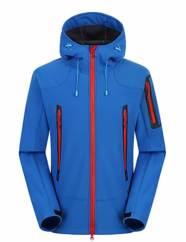 cheap Outdoor Clothing-Men's Hiking Fleece Jacket Outdoor Cycling Winter Underwear Cycling / Bike Running Red Navy Blue Royal Blue L XL XXL