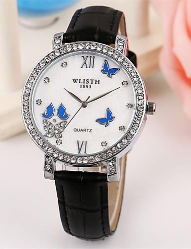 Dámské Módní hodinky Křemenný Kůže Kapela Běžné nošení Černá Bílá Růžová