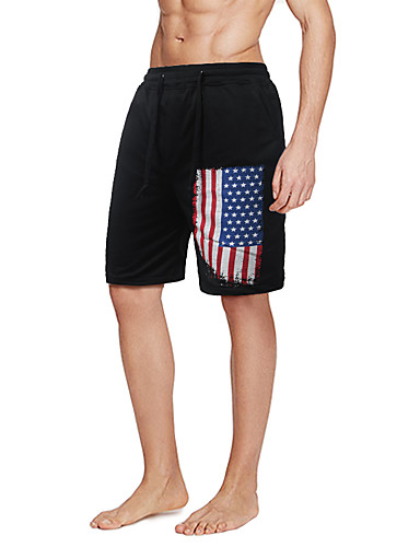Pánské Jednoduchý Aktivní strenchy Kalhoty chinos Kraťasy Kalhoty Rovné Mid Rise Tisk