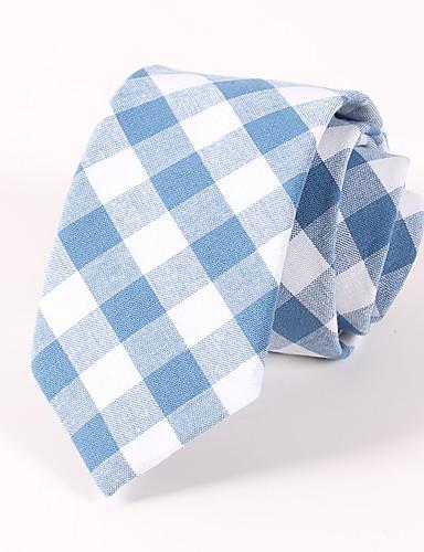 Men's Cotton Polyester Necktie - Houndstooth