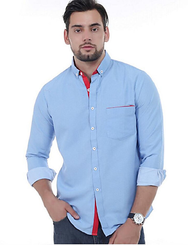 Homens Camisa Social Temática Asiática Poá