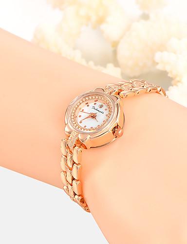 Damen Einzigartige kreative Uhr Armbanduhr Modeuhr Armbanduhren für den Alltag Quartz Legierung Band Charme Luxus Kreativ Freizeit
