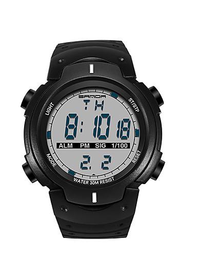 SANDA Miesten Rannekello Smart Watch Armeijakello Muotikello Urheilukello Japani Digitaalinen LED Askelmittarit Itsestään valaiseva