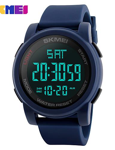 Homens Relógio Esportivo / Relógio inteligente / Relógio de Pulso Chinês Calendário / Cronógrafo / Impermeável Silicone Banda Amuleto / Fashion / Relógio Elegante Cores Múltiplas / Noctilucente