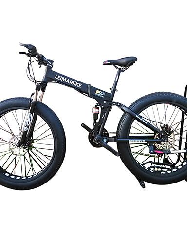 povoljno finalno sniženje-Folding bicikle / Sniježni bicikl Biciklizam 21 Brzina 26 inča / 700CC 40 mm SHIMANO 51-7 Dvostruka disk kočnica Vilica s oprugom Stražnja suspenzija Običan Aluminijska legura
