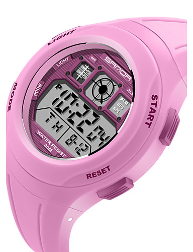 SANDA Barn Sportsklokke Militærklokke Smartklokke Moteklokke Armbåndsur Japansk DigitalLED Kalender Treningsmålere Stoppeklokke