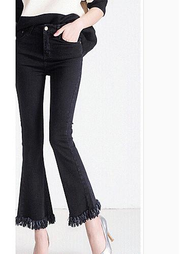 Dámské Jednoduchý Mikro elastické Džíny Kalhoty Štíhlý High Rise
