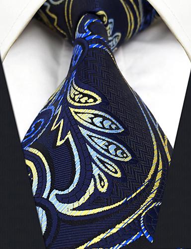 Herrn Retro Niedlich Party Büro Freizeit Ganzjährig Hals-Binder,Paisley-Muster Blau