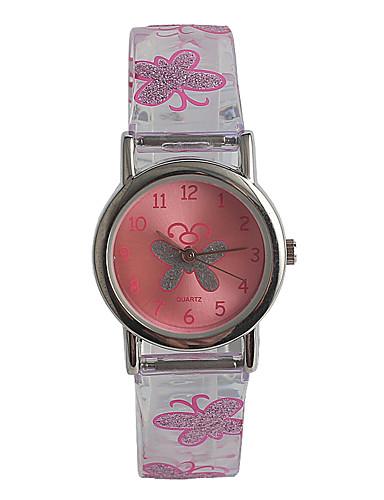 Dětské Módní hodinky japonština Japonské Quartz / Nerez Plastic Kapela Na běžné nošení Růžová