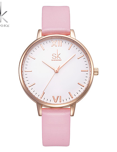 SK Women's Bracelet Watch Chinese Water Resistant / Water Proof / Shock Resistant Leather / PU Band Charm / Luxury / Casual Black / White / Pink / Two Years / Sony SR626SW