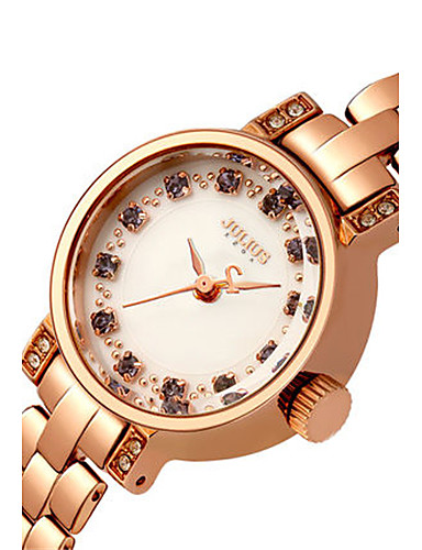 Damen Modeuhr Armband-Uhr Japanisch Quartz Wasserdicht Legierung Band Blau Silber Gold Rotgold